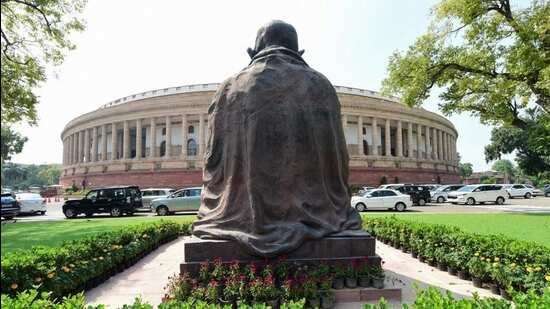 Mahatma Gandhi statue shifted for construction of New Parliament Building
