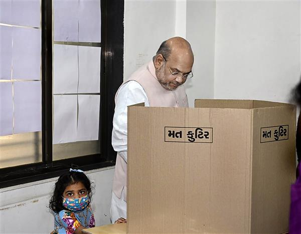 Gujarat Civic Polls: Amit Shah confident of BJP victory in local body elections