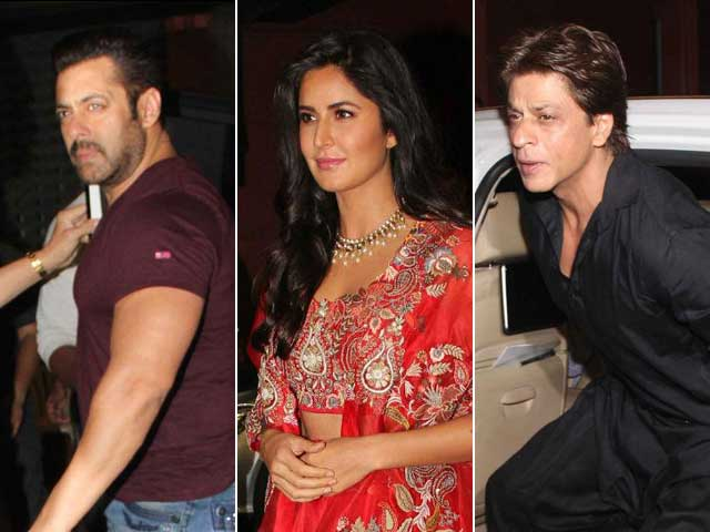 Before shooting for Tiger 3, Salman Khan and Katrina Kaif perform a puja and met Shahrukh Khan